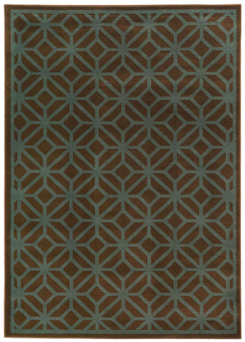 Ella 5188D Brown / Blue Rug