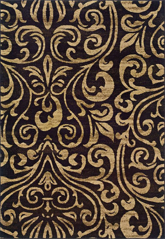 Emerson 2033C Black/ Gold Rug