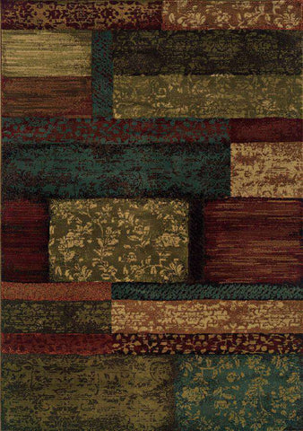 Emerson 2480C Brown/ Teal Rug