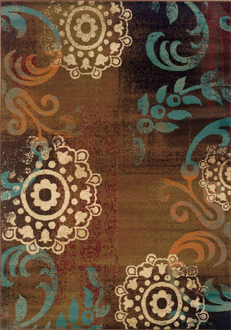 Emerson 2822A Brown/ Blue Rug