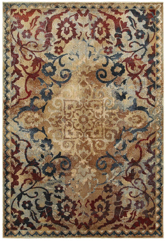 Empire 21j Gold/ Red Rug