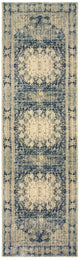 Empire 4445s Ivory/ Blue Rug