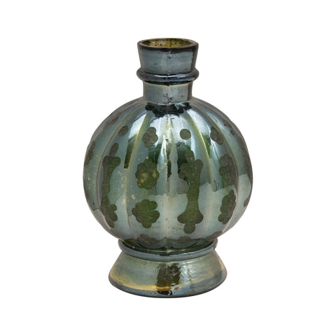 Chateau Df4348 Green Embossed Glass Vase