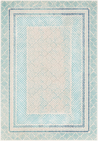 Harput HAP-1098 Aqua Rug Rectangle 2 x 3