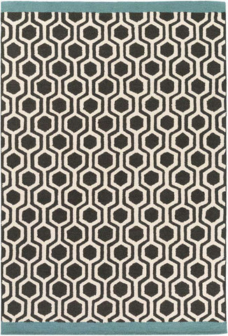 Hilda HDA 2377 Black, White Rug
