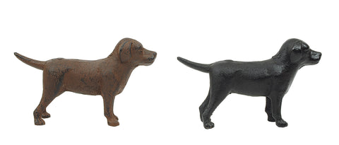 Bits & Bobs De7662A Cast Iron Lab Figurines-Set Of 2