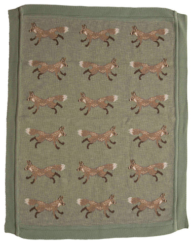 Little One Df2525 Fox Throw Blanket