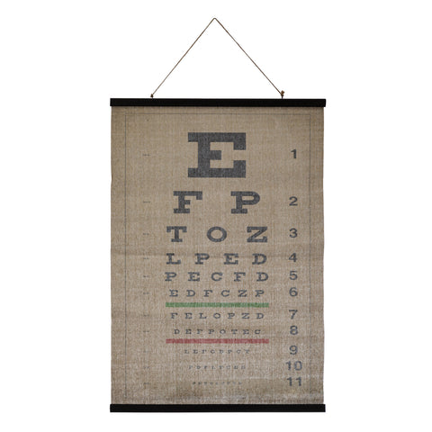 Botanist Df4185 Eye Chart Scroll Canvas Art