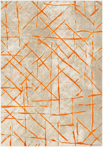 Jax JAX 5063 Orange, Gray Rug