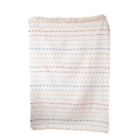 Sanctuary Da8146 White/Multi Throw Blanket