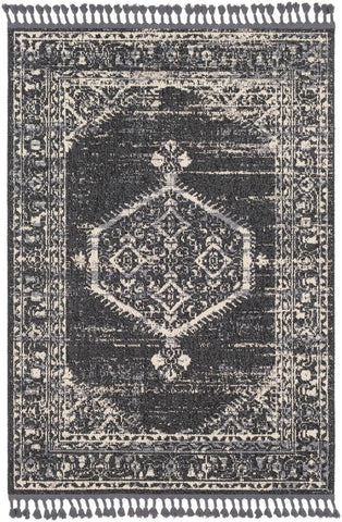 Restoration REO 2302 Black, Gray Rug
