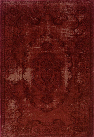 Revival 119R Red Black Rug