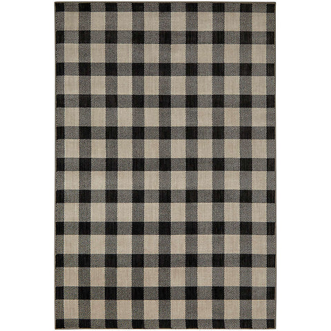 Studio Simple Plaid Gunmetal 91928 90122 Rug