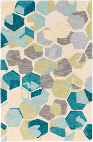 Rivera RVR-1009 Teal Rug Rectangle 2 x 3