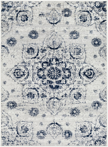 Seville SEV-2305 Dark Blue Rug Rectangle 2 x 2.92