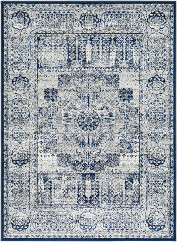 Seville SEV-2306 Dark Blue Rug Rectangle 2 x 2.92