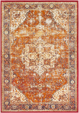 Serapi SRP 1019 Orange, Red Rug