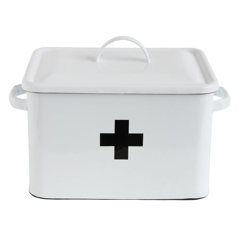 Urban Homestead Da7188 Enameled First Aid Decorative Box