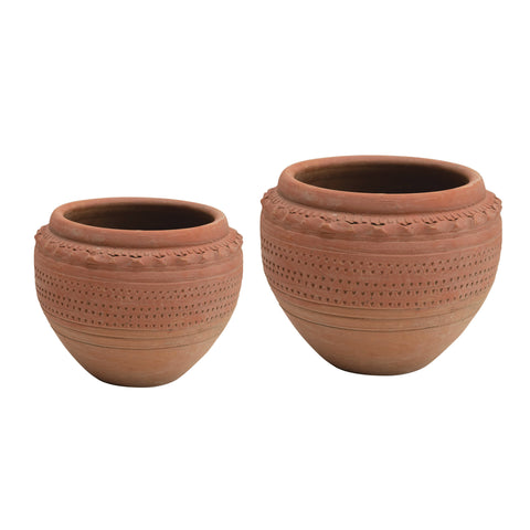 Terrain Df3819 Textured Terracotta Planter