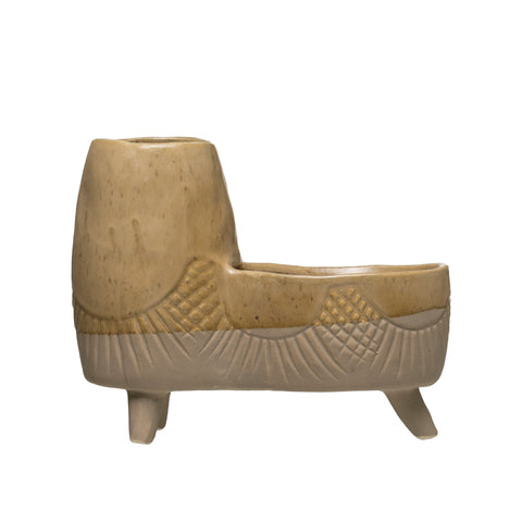 Sanctuary Df2996 Footed Stoneware Double Planter