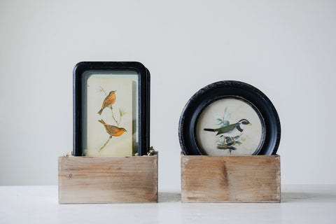 Chateau Da9293A Wood With Floating Bird Framed Art-Set Of 6