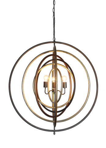 Collected Notions Da5073 Metal Multi-Ringed Pendant Lighting