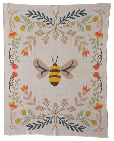 Little One Df2526 Bee Throw Blanket