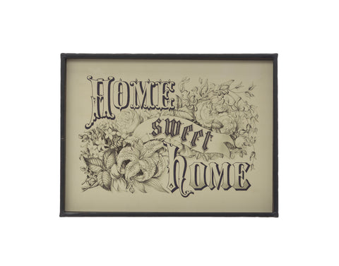 "Rustic Country Df2787 ""Home Sweet Home"" Metal Framed Art"
