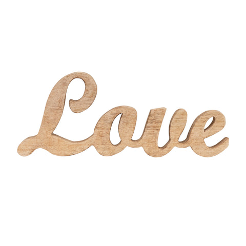 "Bits & Bobs Df3821 Mango Wood Word Cut-Out ""Love"" Figurine"