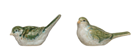 Secret Garden Df2759A Stoneware Bird Figurines-Set Of 2