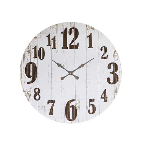 Urban Homestead Da5149 Black & White Wood & Metal Wall Clock