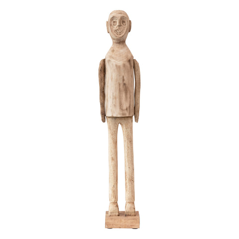 Terrain Df3947 Hand-Carved Mango Wood Standing Figurine