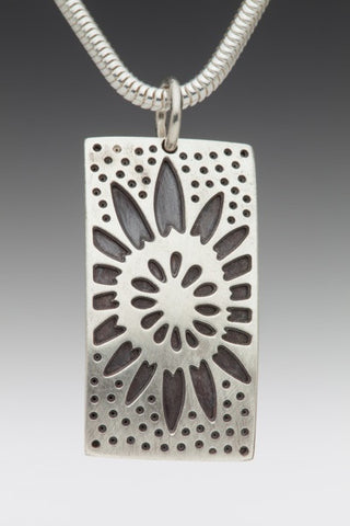 Silver Soldered Sunflower Pendant