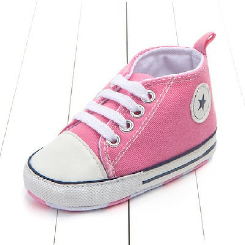 Baby Canvas Crib Shoes - Rose Baby