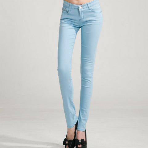 Candy Skinny Jeans in Light Blue