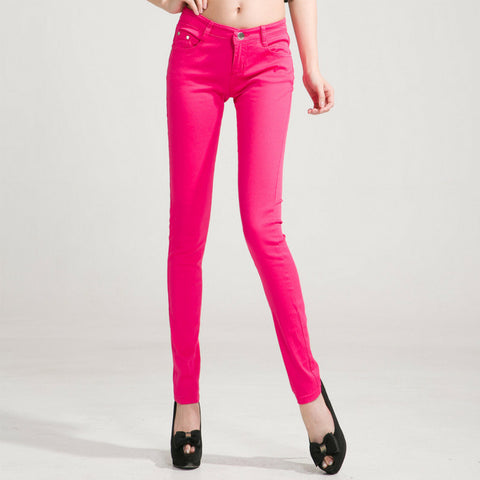 Candy Skinny Jeans in Hot Pink