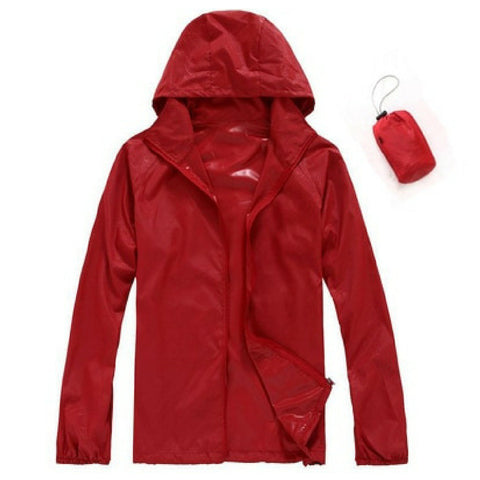 Quick Dry Waterproof Jacket in Red