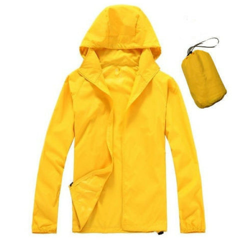 Quick Dry Waterproof Jacket in Yellow