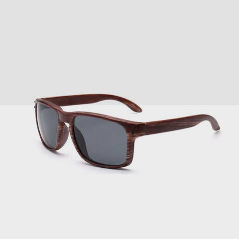 Wooden Tea Textured Sunglasses - Grey