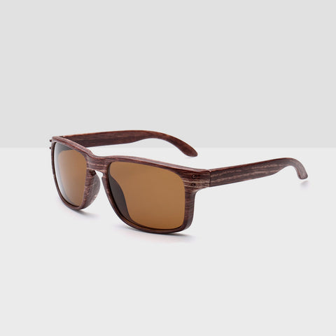 Wooden Tea Textured Sunglasses - Brown