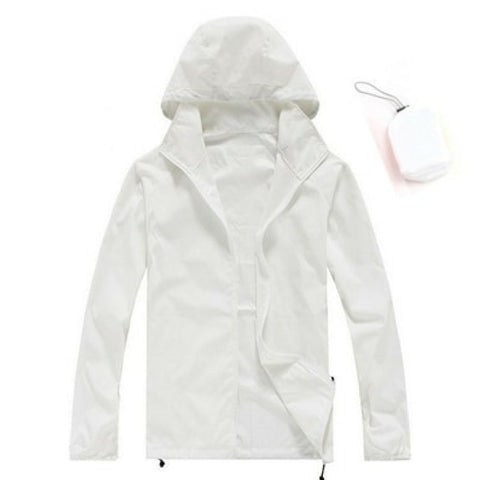 Quick Dry Waterproof Jacket in White