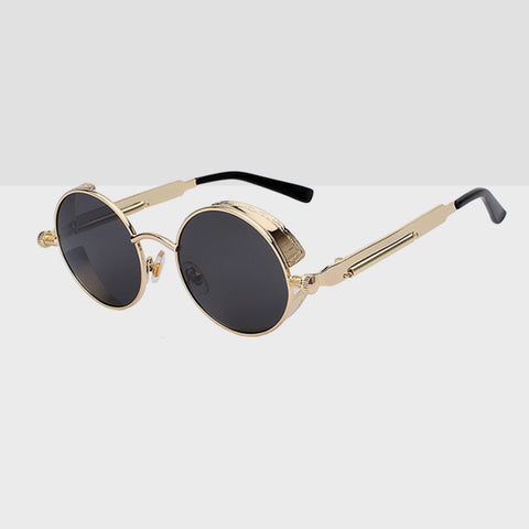 Round Hipster Sunglasses - Gold