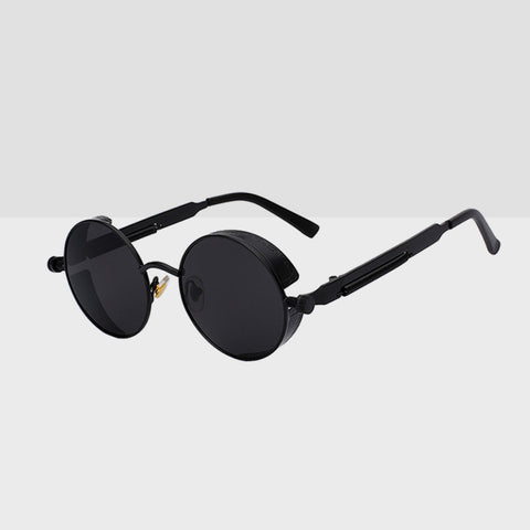 Round Hipster Sunglasses - Black
