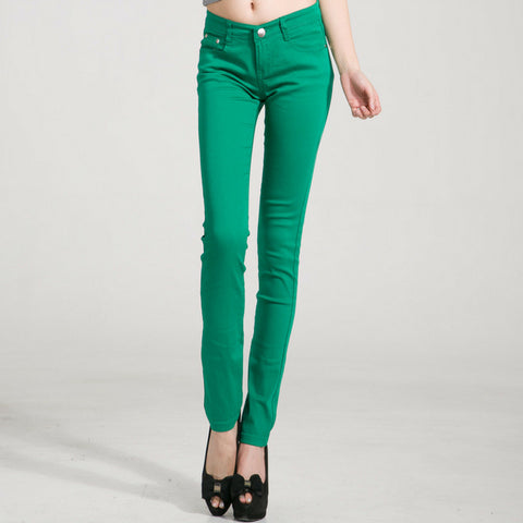 Candy Skinny Jeans in Green