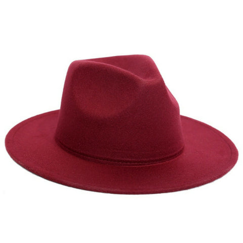LINDER Felt Hat Fedora - Red Wine