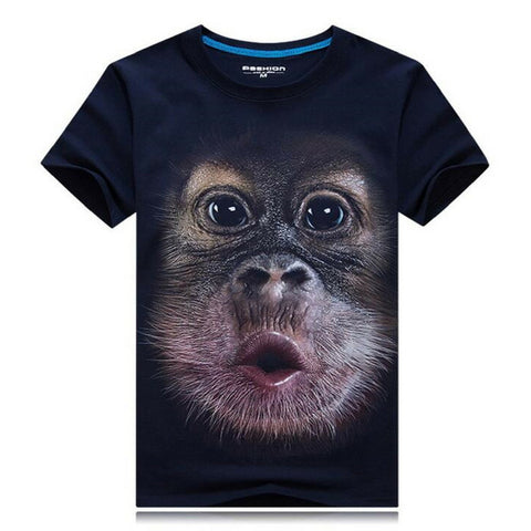 Funny Monkey T-Shirt - Dark Blue