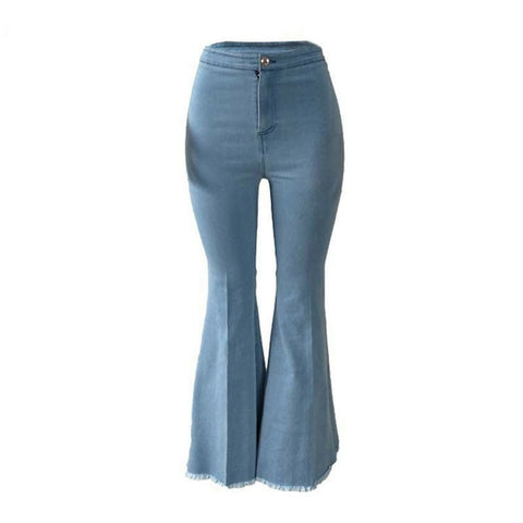 LINDER  Sexy Wide Leg Pants - Light Blue