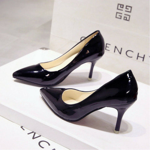 LINDER Pointed High Heels - Black