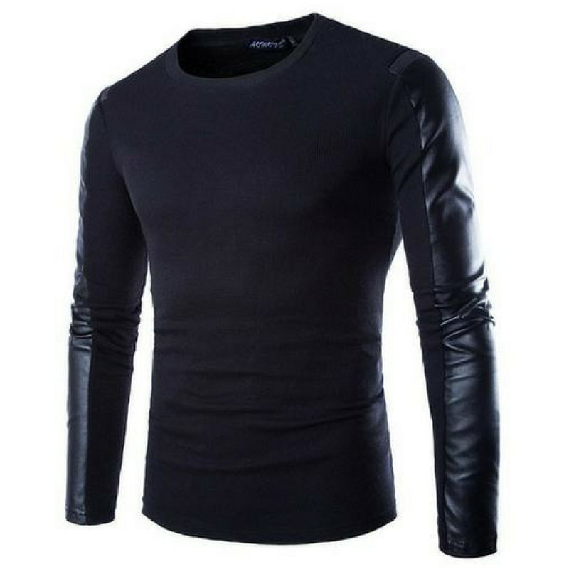Leather Long Sleeve in Black