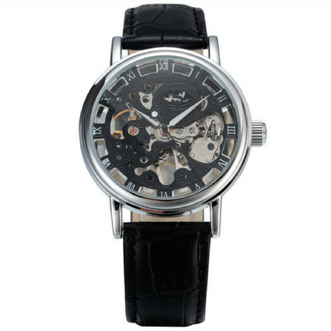 The Skeleton Watch - Black & Silver